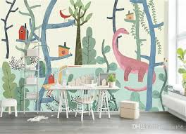 Painted Forest Cute 3d Cartoon Murals 3d Photo Murals Wallpaper For Boy Kids Child Room Large Papel Mural 3d Wall Mural Image Wallpaper Photo Image Wallpaper Photos From Fumei66 30 6 Dhgate Com