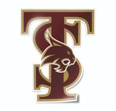 Texas State University Interlocking Ts Logo Car Decal Nudge Printing
