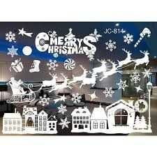 20 Styles Merry Christmas Window Glass Pvc Wall Sticker Diy Snow Town Wall Stickers New Year Home Decal Christmas Decoration Cheap Wall Sticker Cheap Wall Stickers From Rudelf 24 02 Dhgate Com