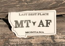 Montana Always Forever Af Decal Mt Brand Apparel