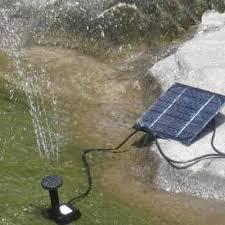 solar power fountain pool water pump