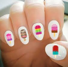 Nail Decals Ice Pop Nail Decals Water Transfer Nail Decals Etsy