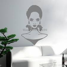 Fashion African Girl Vinyl Wall Decal Hairstyle Africa Continent Earrings Art Wall Sticker Room Home Decor Unique Gift Hot Home Decals Home Decals For Decoration From Joystickers 8 96 Dhgate Com