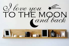 Design With Vinyl I Love You To The Moon And Back Wall Decal Wayfair