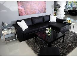 modern sectional black leather sofa