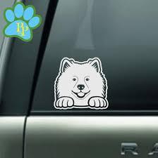 Samoyed Spitz American Eskimo Peeking Car Decal Sticker Etsy