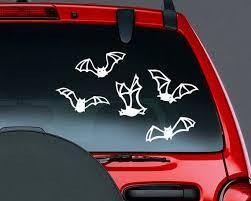 Bat Decals Halloween Decor Set Of 5 Vinyl Car Decal Etsy