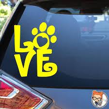 Amazon Com Love Paw Print Vinyl Die Cut Decal Sticker Handmade