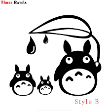 Three Ratels Fd33 Totoro Sticker Studio Ghibli Wall Laptop Die Cut White Car Sticker Decal For Wall Suitcase Door Kid S Room Wall Stickers Aliexpress