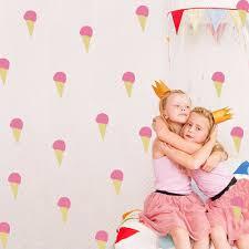 الفينيل الجدار ملصق للأطفال Dedroom الآيس كريم شكل 5x11 سنتيمتر