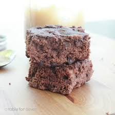 low fat applesauce brownies table for