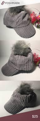 Anna and Ava Gray PomPom Hat | Pom pom hat, Women accessories hats, Pom pom