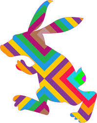 4in X 5in Striped Rabbit Car Decals Bunny Bumper Sticker Stickers Decal Walmart Com Walmart Com