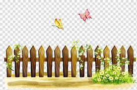 Brown Fence With White Flowers On The Side Illustration Fence Rgb Color Model Fence Transparent Background Png Clipart Hiclipart