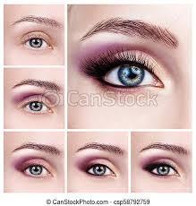 makeup steps applying eyeshadow step