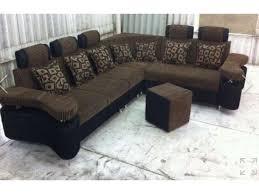 round shape corner sofa set
