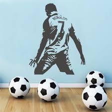 Cr7 Football Player Ronaldo Cristiano Ronaldo Wall Art Decal Wall Stickers Nursery Boys Kids Room Decor Soccer Wall Decals Sticker Wish