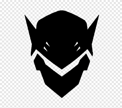 Black Mask Illustration Overwatch Genji Dawn Of The Samurai Decal Logo Mercy Xuanying Angle Logo Png Pngegg