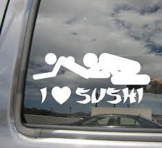 I Heart Sushi Funny Humor Love Car Window Vinyl Die Cut Decal Sticker 02018 Ebay
