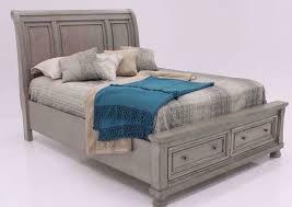 lettner queen size sleigh bed light