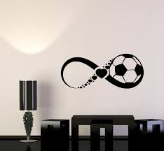 Vinyl Wall Decal Soccer Ball Game Team Sport Love Infinity Stickers Mu Wallstickers4you