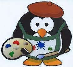 4in X 3 75in Artist Painter Penguin Bumper Sticker Decal Car Window Stickers Decals Stickertalk