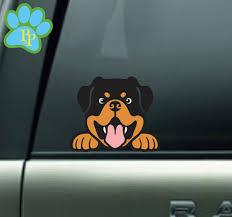 Rottweiler Peeking Car Decal Rottweiler Dog Decal Rottweiler Etsy Rottweiler Dog Rottweiler Dog Decals