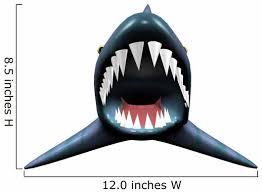 Scary Shark Jaw Wall Decal Wallmonkeys Com