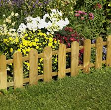 Picket Fence Edging Forest Garden