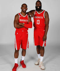 Houston rockets Chris Paul and James Harden