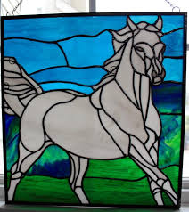 spoos the horse stained glass window