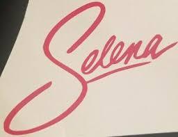 Selena Quintanilla Signature Logo Vinyl Decal Sticker Pinkready To Ship Ebay