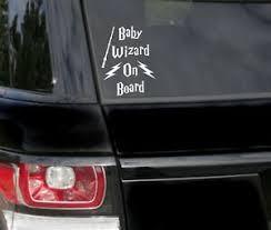 Baby On Board Wizard Funny Car Bumper Sticker Vinyl Decal Ebay