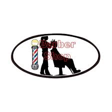 Lady Barber Shop Design Patch By Jessielee Cafepress