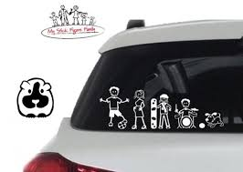 My Stick Figure Family Car Window Stickers Guinea Pig Pg1 3cm Etsy