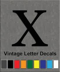 Vintage Motocross Race Vinyl W Decal Letter X Sold Individually Singly Ebay