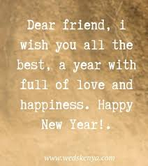 happy new year wishes for friends quotes messages