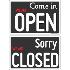 Sandleford Open Closed Plastic Sign 300x200mm Bunnings Warehouse