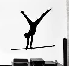 Wall Decal Athlete Gymnast Sport Fitness Athletics Vinyl Sticker Ed19 Wallstickers4you