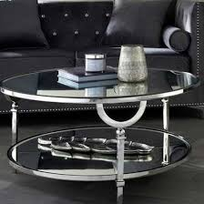 nenque mirrored coffee table with