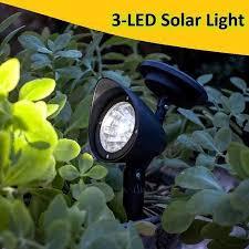 garden lights 3 led solar powered led