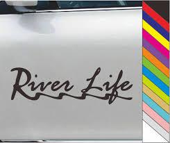 River Life Vinyl Car Laptop Bumper Sticker Wall Window Decal Waterproof Wish