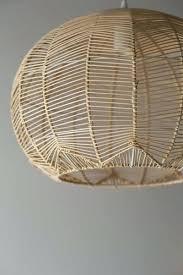 image result for wicker pendant light