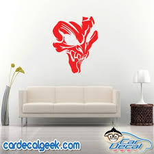 Awesome Creepy Skull Car Window Laptop Wall Decal Sticker