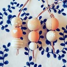 diy wooden bead keychain diy