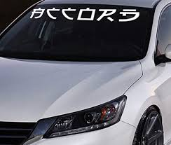 Amazon Com Honda Accord Chinese Letter Windshield Banner Vinyl Decals Stickers Windshield Banner Custom Decal Custom Car Decals Custom Stickers For Cars Vinyl Lettering Handmade
