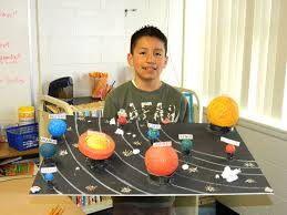 fourth graders model solar system