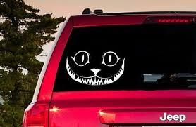 Cheshire Cat Window Sticker Cheshire Cat Decal Cheshire Cat Etsy