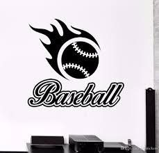 Baseball Sports Wall Stickers Removable Baseball Sports Vinyl Wall Art Mural New Design Baseball Logo Wall Poster Decor Banksy Wall Stickers Bathroom Wall Decals From Joystickers 14 02 Dhgate Com