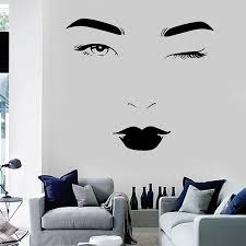 Beauty Face Wall Decals Spa Salon Fashion Woman Wall Stickers Vinyl Wall Art Decals Sticker Beauty Lashes Decal Home Decor H121 Home Decor Vinyl Wall Art Decalsvinyl Wall Aliexpress